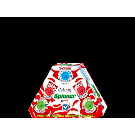 Color Spinner Combo Multi Color Ground Chakkars (5 Pcs)