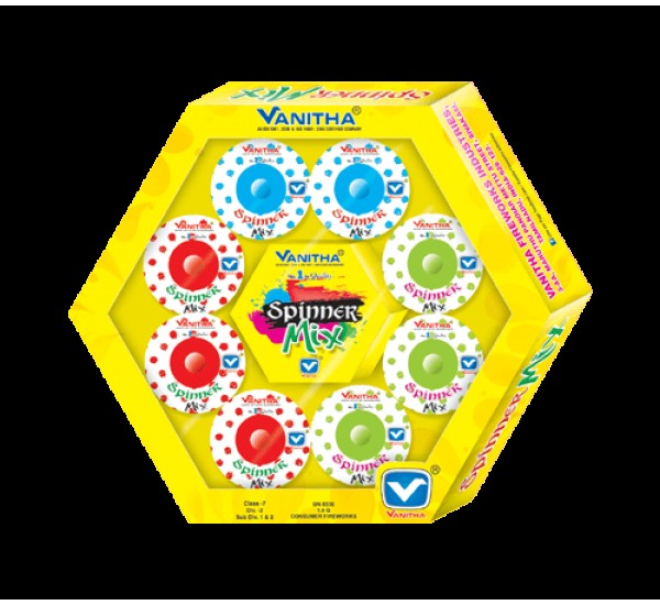 Spinner Mix Multi Color Ground Chakkars (8 Pcs)