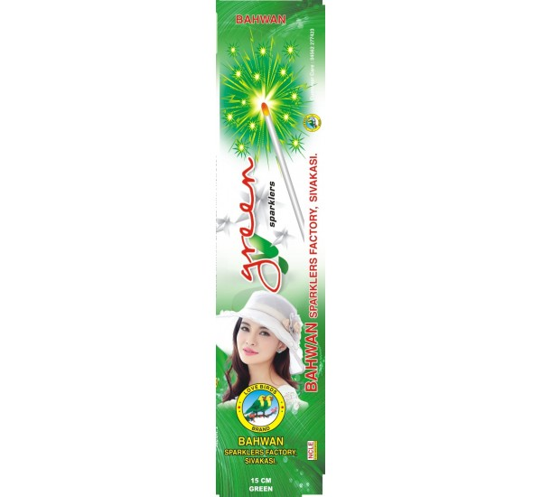 15 cm Green/Red Sparklers - Metro/Other