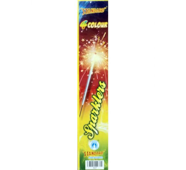 4 Color Sparklers - 5 Boxes (50 Pieces) - Standard