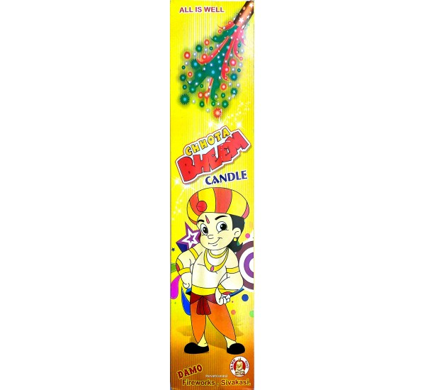 Chota Bheem Pencil / Long Musical Shower Candle (2 Piece)
