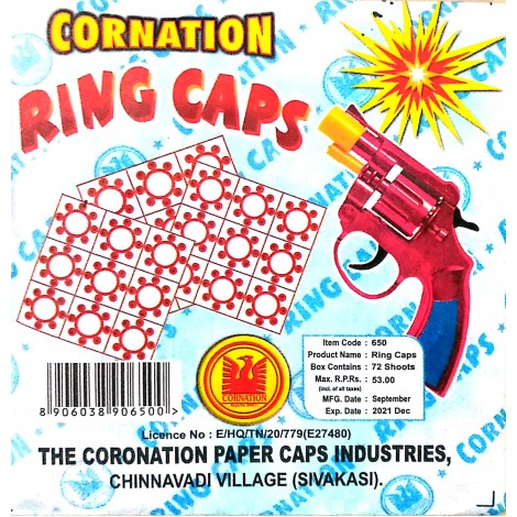 Ring Caps (9 rounds) - 1 Packet