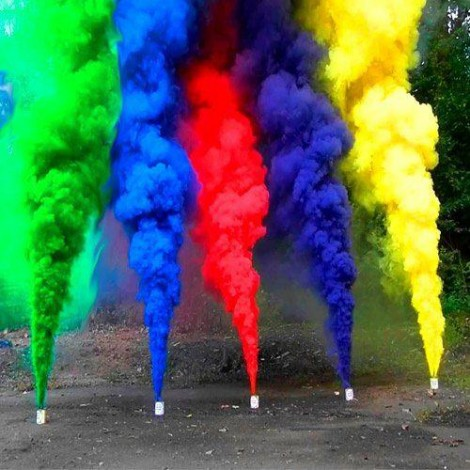Colour Smoke / Rainbow Fog (5Pcs)