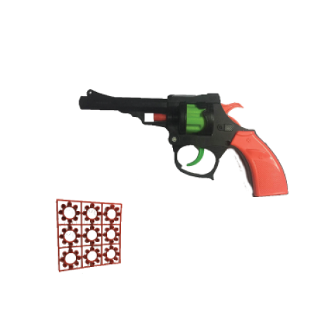 Ring Cap Gun (Small) + 3 Packets Ring Caps (27 rounds/216 Shoots)