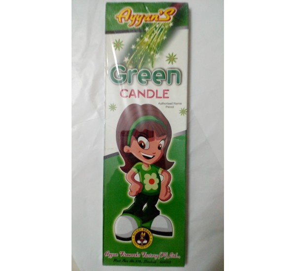 Green Candle  (10 Pieces)